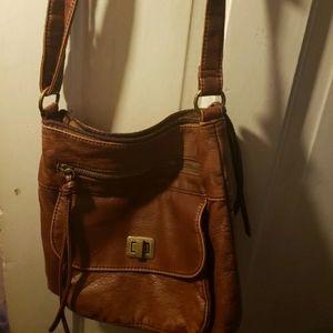 BROWN BUENO SHOULDER BAG
